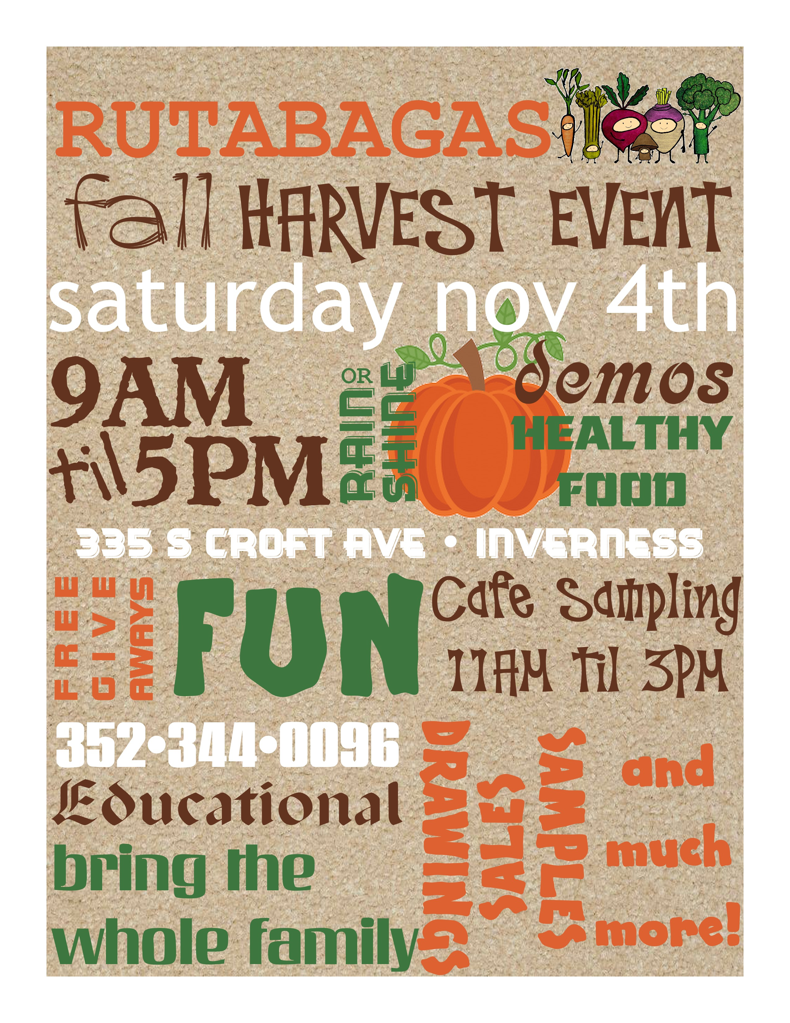 Rutabaga's Fall Harvest Event